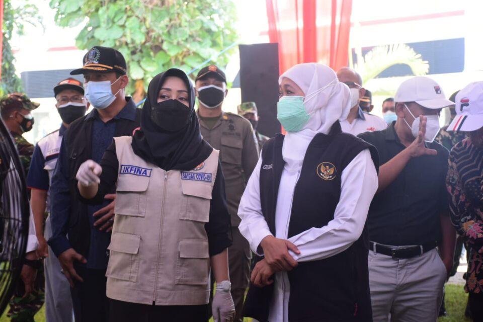 Giat Bersama Gubernur Jatim, Bupati Minta Perluasan Vaksinasi di Kabupaten Mojokerto