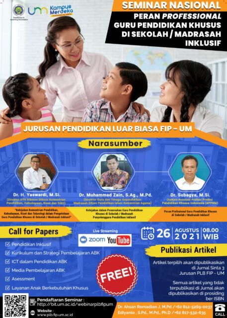 UM Gelar Semnas, Bahas Peran Professional Guru Pendidikan Khusus dalam Pendidikan Inklusif