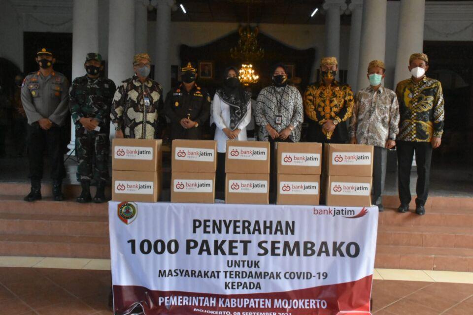 1000 Paket Sembako dari Bank Jatim Cabang Mojokerto, Pemkab Siap Bagikan ke Pengrawit Gamelan