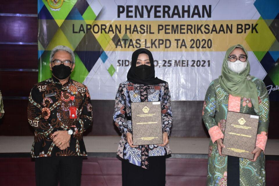 Pemkab Mojokerto Raih Penghargaan WTP 2020 dari Kemenkeu RI