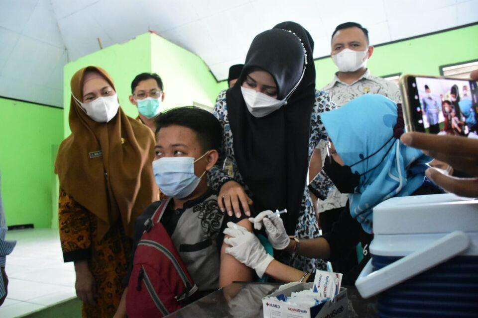 Wujudkan Herd Immunity, Pemkab Mojokerto Genjot Vaksinasi di Ponpes