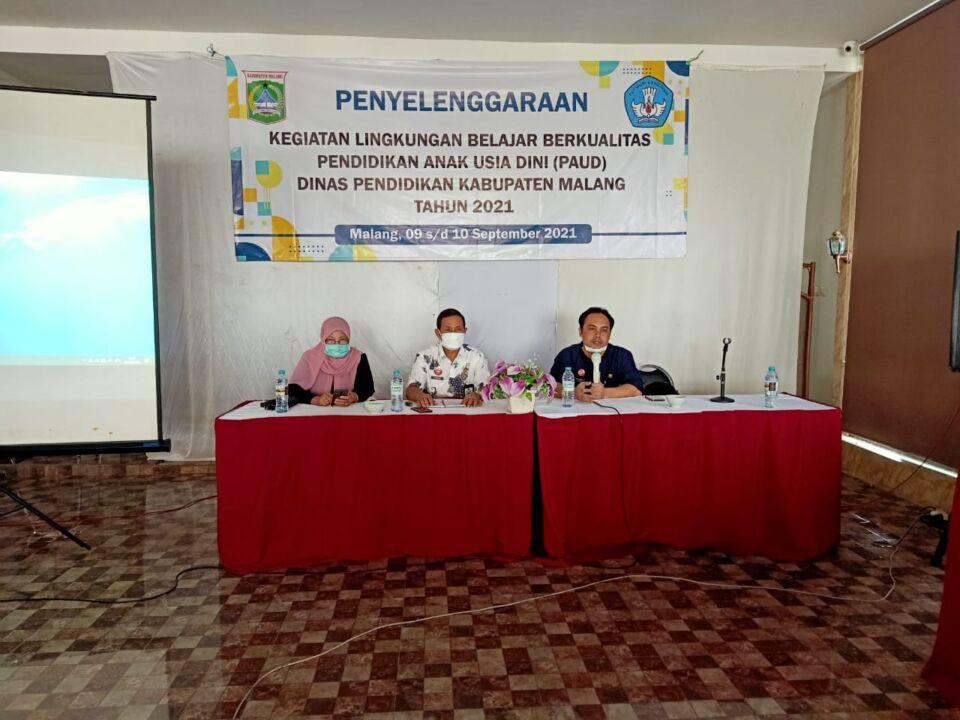 Wujudkan Generasi Emas Sejak Dini, Dispendik Kabupaten Malang Sosialisasikan Lingkungan Belajar Berkualitas