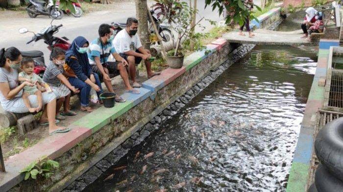 Sekelompok Warga Sulap Sungai Kumuh jadi Kolam Ikan