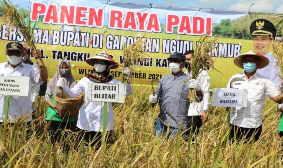 Support Lumbung Padi, Pemkab Blitar Dorong Produktifitas Para Petani