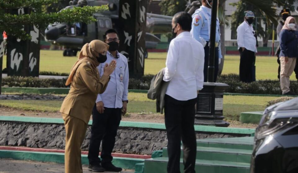 Kunker ke Jatim, Presiden Jokowi Tinjau Vaksinasi di Blitar