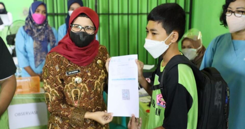 Persiapan Pelaksanaan PTM, Vaksinasi di Kabupaten Blitar Sasar Para Siswa